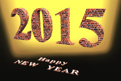 Happy NEW YEAR. ! In the new 2015, everything will be new Stock Photos