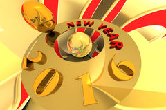 Happy New Year 2016. Stock Photography