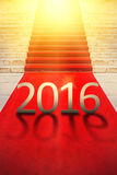 Happy New Year 2016, Exclusive Red Carpet Concept Stock Images
