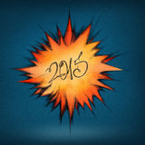 Happy new year 2015 explosion. Illustration of an explosion on a dark blue background Stock Photo