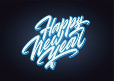 Happy New Year expressive vector lettering Royalty Free Stock Images