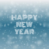 Happy new year falling snow on the blue background eps 10  Stock Image