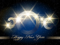 Happy New Year Festive Design Stock Photo