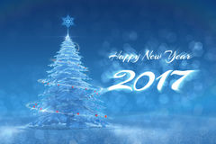 'Happy New Year - 2017' Festive Design Stock Photography