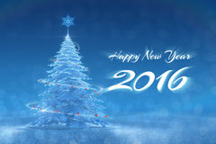 «Happy New Year - 2016» Festive Design Stock Images