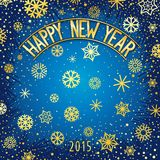 Happy new year festive lettering Stock Image