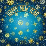 Happy new year festive lettering Stock Photo