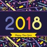 Happy new year figures backgrund design. Vector illustration Stock Image