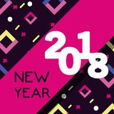 Happy new year figures backgrund design. Vector illustration Stock Photos