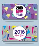 Happy new year figures backgrund design. Vector illustration Royalty Free Stock Photography