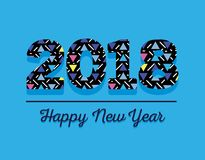 Happy new year figures backgrund design. Vector illustration Royalty Free Stock Photo