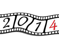 Happy new year 2014 film Royalty Free Stock Images