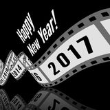 Happy new year 2017. Film strip vector illustration Stock Images
