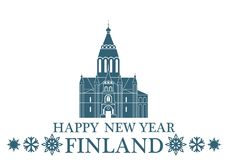 Happy New Year Finland Royalty Free Stock Images
