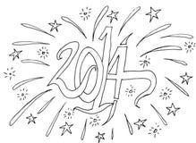 Happy New Year Fire Cracker Rocket Stock Photos
