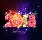 Happy new year 2018 firework abstract background.  Royalty Free Stock Photo