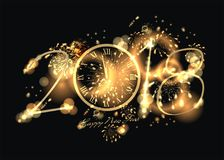 Happy New Year with firework background Royalty Free Stock Image