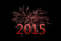 Happy new year 2015. Firework belongs to happy new year Royalty Free Stock Images