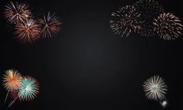 Happy new year firework. Celebration vector illustration