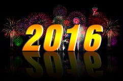 Happy New Year with Firework. Royalty Free Stock Photography