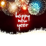 Happy new year firework fireworks Royalty Free Stock Photo