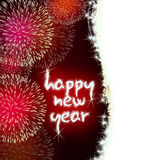 Happy new year firework fireworks Stock Image