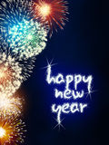 Happy new year firework fireworks Royalty Free Stock Image