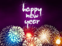 Happy new year firework fireworks Royalty Free Stock Images
