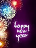 Happy new year firework fireworks Stock Images