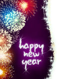 Happy new year firework fireworks Royalty Free Stock Photography