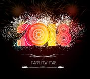 Happy New Year 2018 Firework.  Stock Images