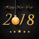 Happy new year 2018 with firework. Background.  illustration Royalty Free Stock Photography