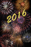 Happy new year 2016 with firework Stock Photos