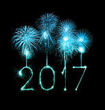2017 Happy New Year firework sparklers Stock Image