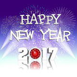 Happy new year 2017 with Firework. Vector Stock Photos