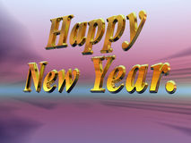 Happy new year with fireworks. Royalty Free Stock Photography