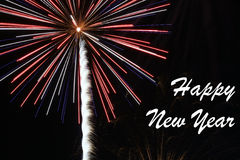 Happy New Year Fireworks Stock Photography