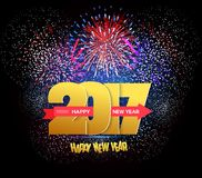 Happy New Year 2017 Fireworks Royalty Free Stock Photography