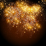 Happy New Year fireworks Stock Image