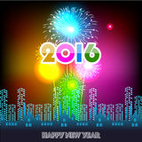 Happy New Year 2016 with fireworks background. Happy New Year 2016 with fireworks  background Stock Photos
