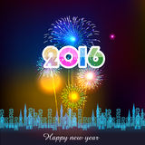 Happy New Year 2016 with fireworks background. Happy New Year 2016 with fireworks  background Royalty Free Stock Photos