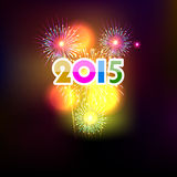 Happy New Year 2015 with fireworks background. Happy New Year 2015 with fireworks Royalty Free Stock Photography
