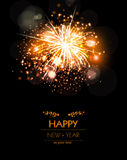 Happy New Year fireworks background concepT. Easy editable Stock Photography
