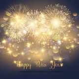Happy New Year fireworks background Royalty Free Stock Photo