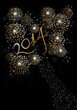 Happy new year 2014 fireworks background. Happy new year 2014 holidays fireworks greeting card background. EPS10 illustration organized in layers for easy Royalty Free Stock Photo