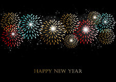 Happy new year 2014 fireworks background Royalty Free Stock Photo