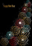 Happy new year 2014 fireworks background. Happy new year 2014 holidays fireworks greeting card background. EPS10 illustration organized in layers for easy Vector Illustration