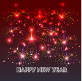 Happy New Year with fireworks background. Illustration Stock Photo