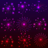 Happy New Year with fireworks background. Illustration Royalty Free Stock Photos