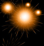 Happy New Year fireworks background. Illustration Happy New Year fireworks background - vector Royalty Free Stock Photography